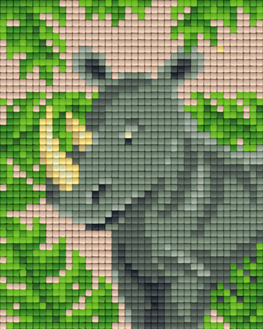 Rhino One [1] Baseplate PixelHobby Mini-mosaic Art Kits