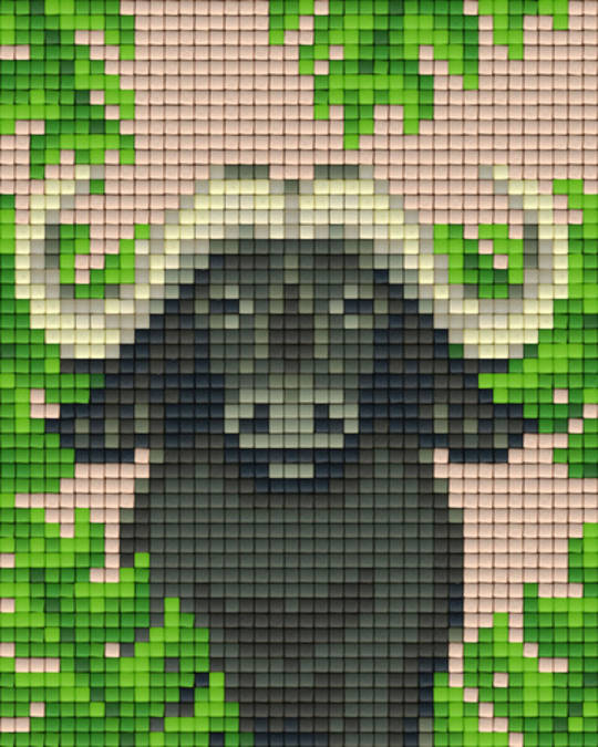 Buffalo One [1] Baseplate PixelHobby Mini-mosaic Art Kits