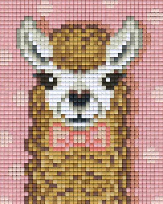Brown Alpaca One [1] Baseplate PixelHobby Mini-mosaic Art Kits