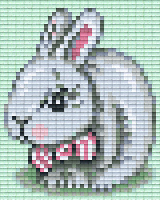 Rabbit One [1] Baseplate PixelHobby Mini-mosaic Art Kits