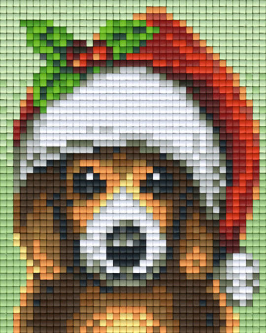 Christmas Dog One [1] Baseplate PixelHobby Mini-mosaic Art Kits