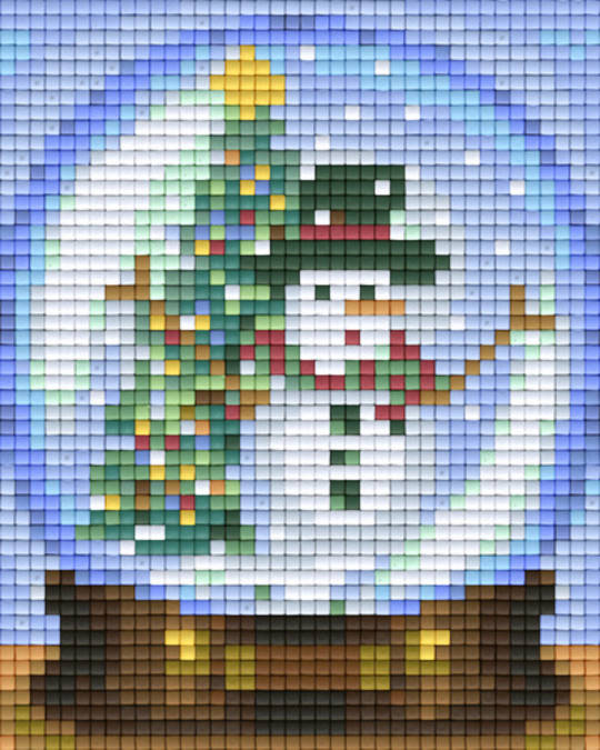 Snow Globe One [1] Baseplate PixelHobby Mini-mosaic Art Kits