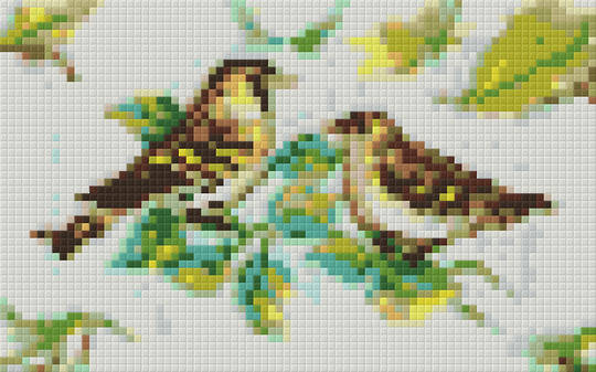 Birds Two [2] Baseplate PixelHobby Mini-mosaic Art Kit