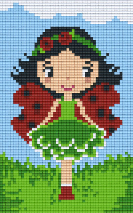 Ladybird Girl Two [2] Baseplate PixelHobby Mini-mosaic Art Kit
