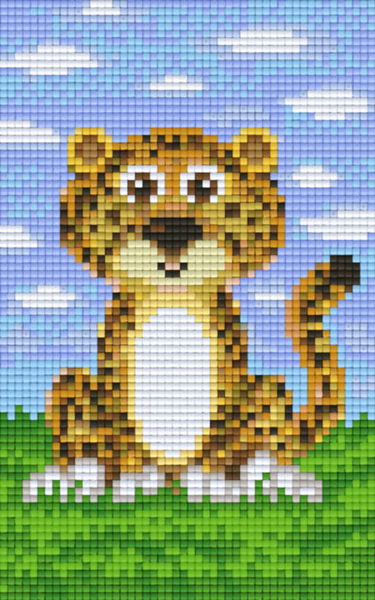 Cheetah Two [2] Baseplate PixelHobby Mini-mosaic Art Kit