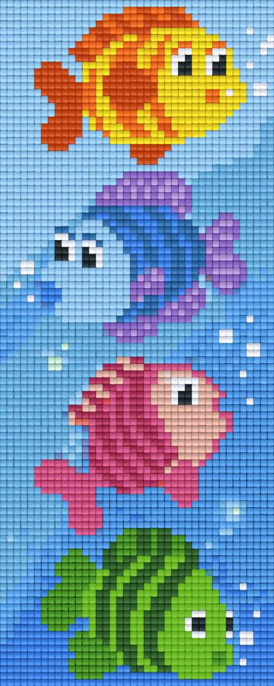 Colourful Fish Two [2] Baseplate PixelHobby Mini-mosaic Art Kits