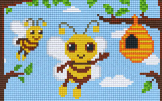 Bees And Hive Two [2] Baseplate PixelHobby Mini-mosaic Art Kits