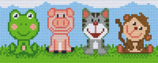 Cute Animals Two [2] Baseplate PixelHobby Mini-mosaic Art Kits