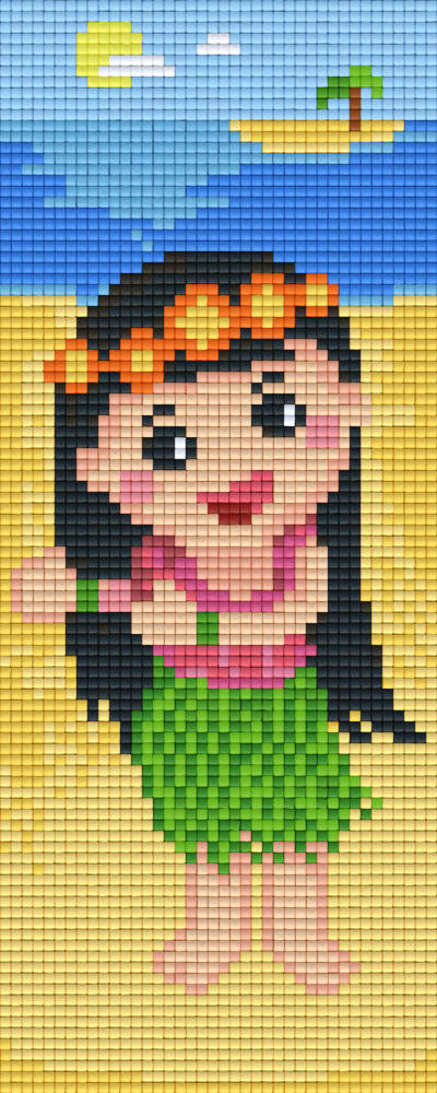Hula Girl Two [2] Baseplate PixelHobby Mini-mosaic Art Kits