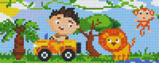Safari Two [2] Baseplate PixelHobby Mini-mosaic Art Kits