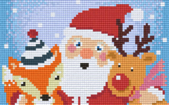 Christmas Friends Two [2] Baseplate PixelHobby Mini-mosaic Art Kits