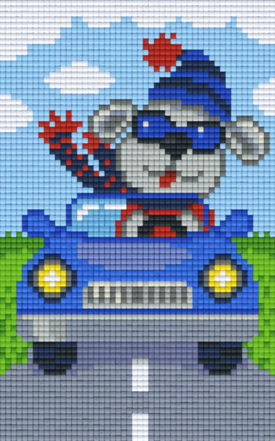 Dog In Car Two [2] Baseplate PixelHobby Mini-mosaic Art Kit