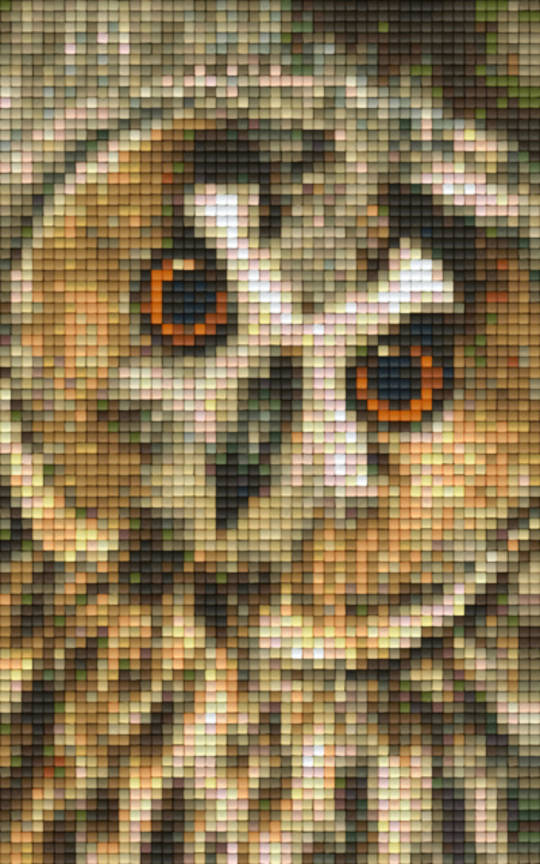 Barn Owl Two [2] Baseplate PixelHobby Mini-mosaic Art Kit