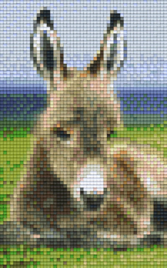 Baby Donkey Two [2] Baseplate PixelHobby Mini-mosaic Art Kit