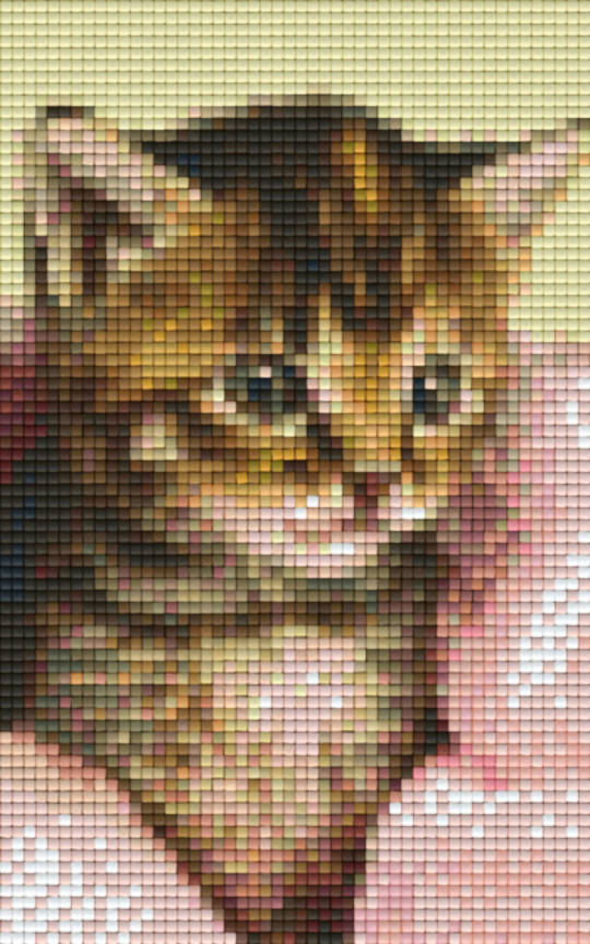 Kitten 2 Two [2] Baseplate PixelHobby Mini-mosaic Art Kit