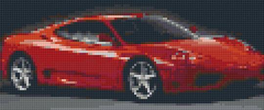 Red Ferrari Car Three [3] Baseplate PiixeHobby Mini-mosaic Art Kit