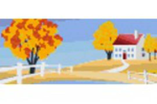 Autumn Holiday Three [3] Baseplate PixelHobby Mini-mosaic Art Kit