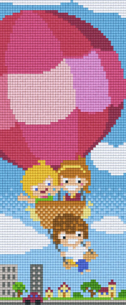 Hot Air Balloon Three [3] Baseplate PixelHobby Mini-mosaic Art Kits