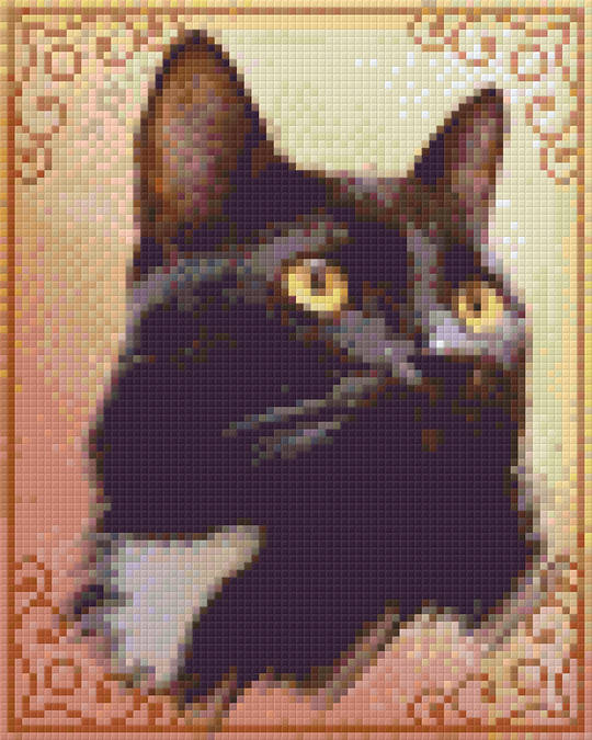 Maurice The Cat Four [4] Baseplate PixelHobby Mini-mosaic Art Kits