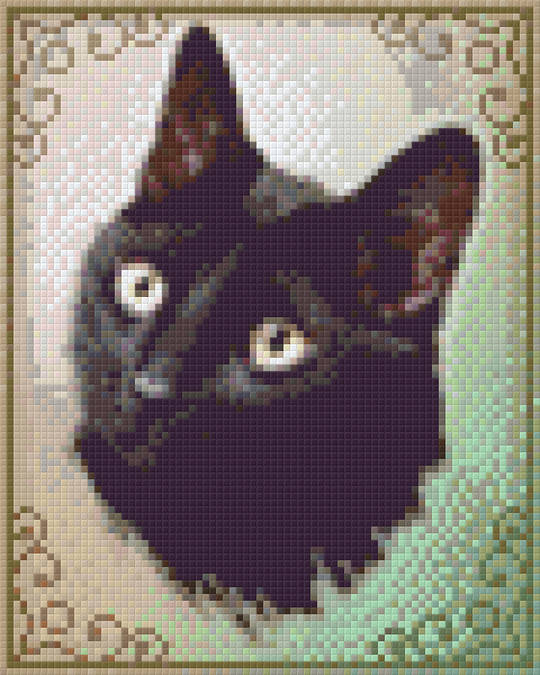 Sarah The Cat Four [4] Baseplate PixelHobby Mini-mosaic Art Kits