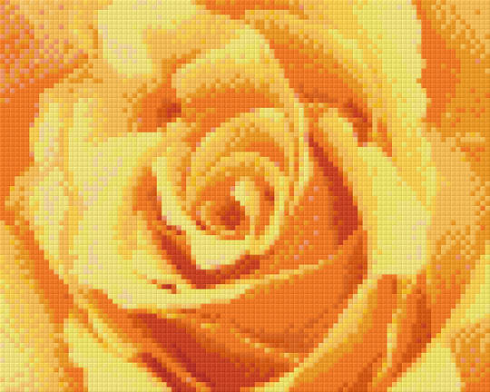 Yellow Rose Four [4] Baseplate PixelHobby Mini-mosaic Art Kits