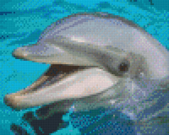 Laughing Dolphin Four [4] Baseplate PixelHobby Mini-mosaic Art Kits