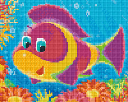 Coral Fish Four [4] Baseplate PixelHobby Mini-mosaic Art Kits