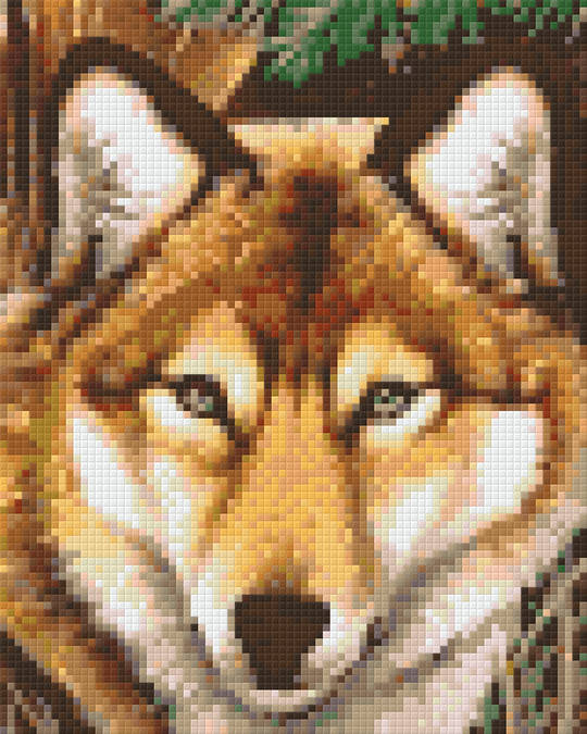 The Wolf Four [4] Baseplate PixelHobby Mini-mosaic Art Kits
