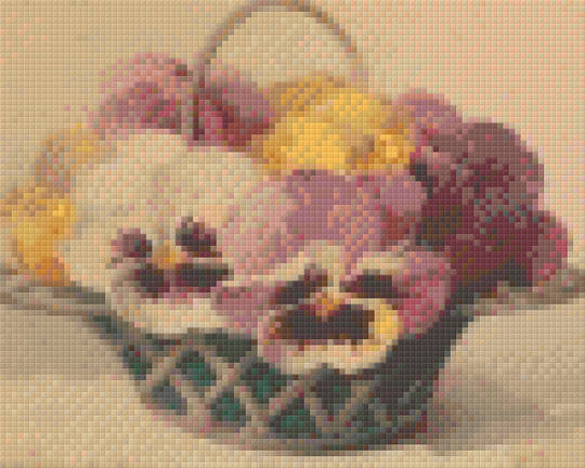 Basket Of Pansies Four [4] Baseplate PixelHobby Mini-mosaic Art Kits