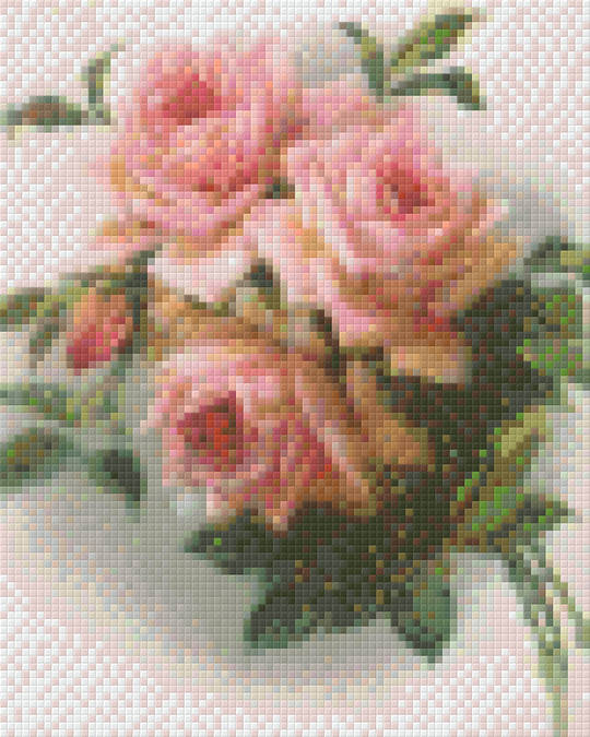 Rose Bouque Two Four [4] Baseplate PixelHobby Mini-mosaic Art Kits