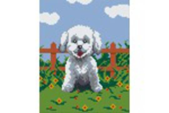 Dog Four [4] Baseplate PixelHobby Mini-mosaic Art Kits