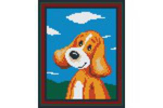 Happy Puppy Four [4] Baseplate PixelHobby Mini-mosaic Art Kits