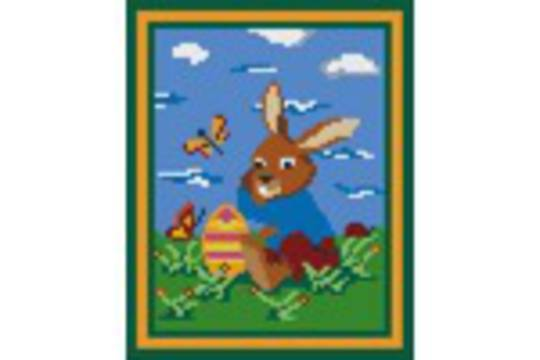 Easter Bunny Four [4] Baseplate PixelHobby Mini-mosaic Art Kits
