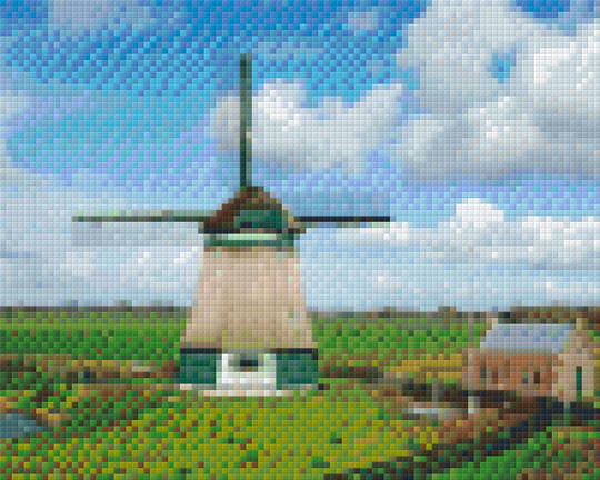 Windmill Four [4] Baseplate PixelHobby Mini-mosaic Art Kits