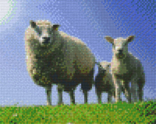 Sheeps Four [4] Baseplate PixelHobby Mini-mosaic Art Kits