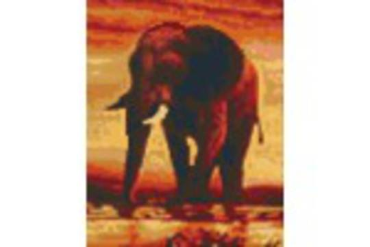 Elephant Four [4] Baseplate PixelHobby Mini-mosaic Art Kits