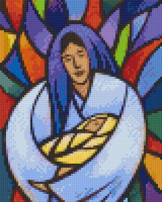 Virgin And Child Four [4] Baseplate PixelHobby Mini-mosaic Art Kits