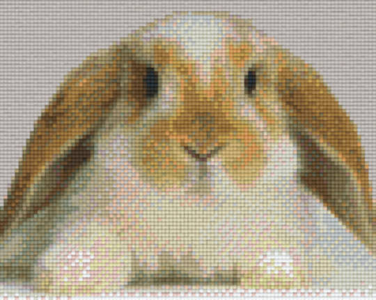 Rabbit Head Four [4] Baseplate PixelHobby Mini-mosaic Art Kits