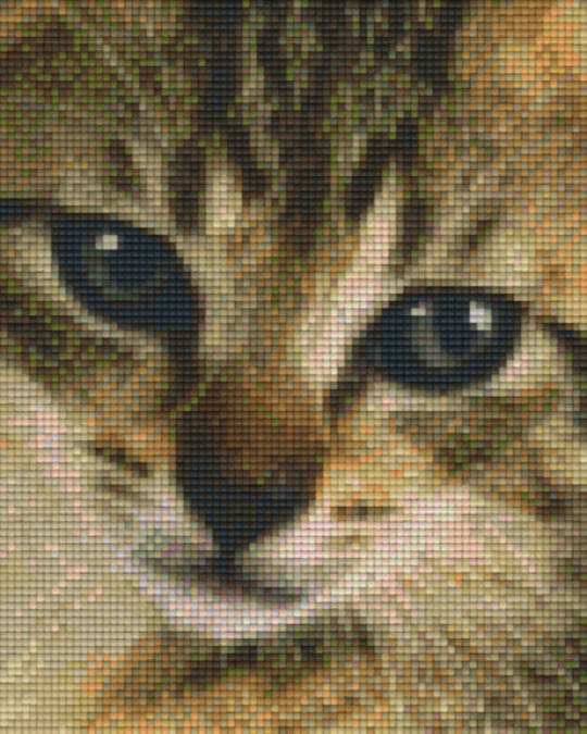 Kitten Head Four [4] Baseplate PixelHobby Mini-mosaic Art Kits