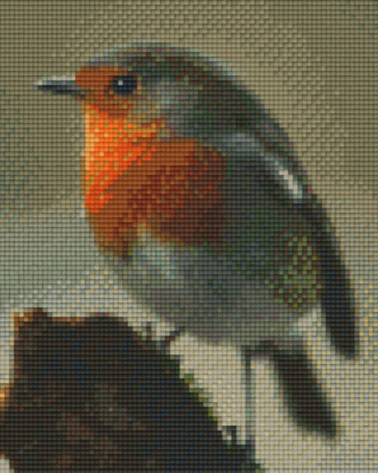 Red Robin Four [4] Baseplate PixelHobby Mini-mosaic Art Kits