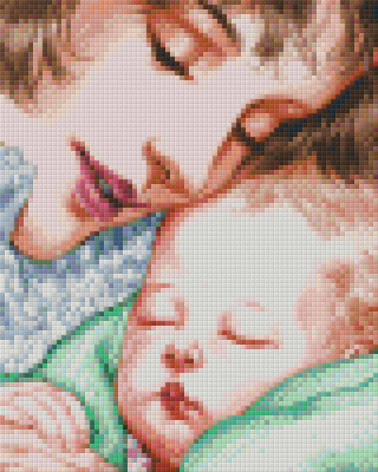 Mother And Child [Green Blanket] Four [4] Baseplate PixelHobby Mini-mosaic Art Kits