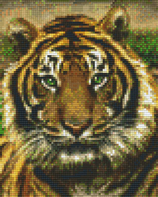 Tiger Face Four [4] Baseplate PixelHobby Mini-mosaic Art Kits