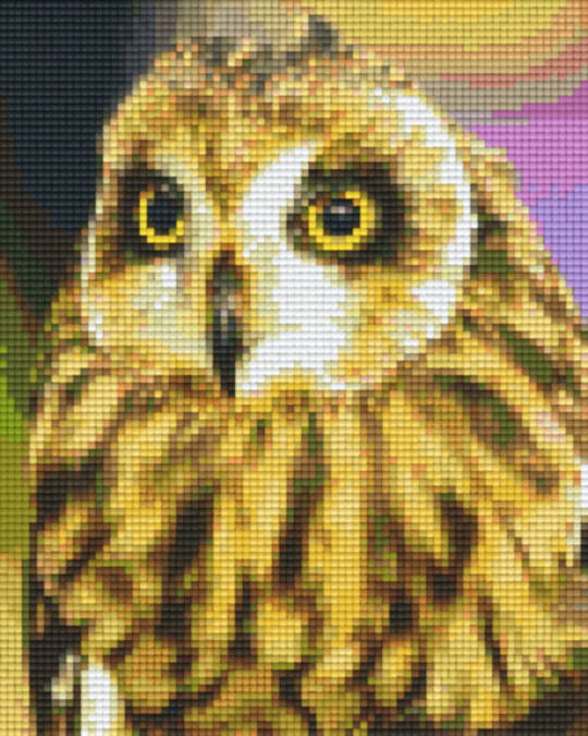 Owl Four [4] Baseplate PixelHobby Mini-mosaic Art Kits