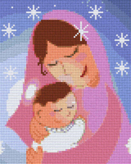 Mother And Child Four [4] Baseplatge PixelHobby Mini-mosaic Art Kits