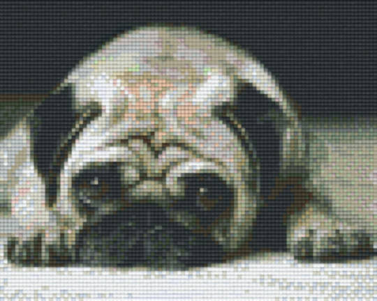 Pug Face Four [4] Baseplate PixelHobby Mini-mosaic Art Kits