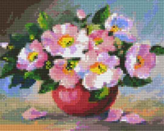 Vase Flowers Four [4] Baseplate PixelHobby Mini-mosaic Art Kits