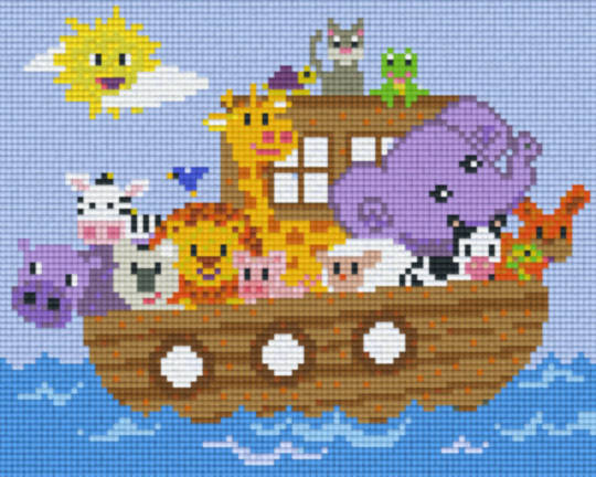 Animals On A Boat Four [4] Baseplatge PixelHobby Mini-mosaic Art Kits