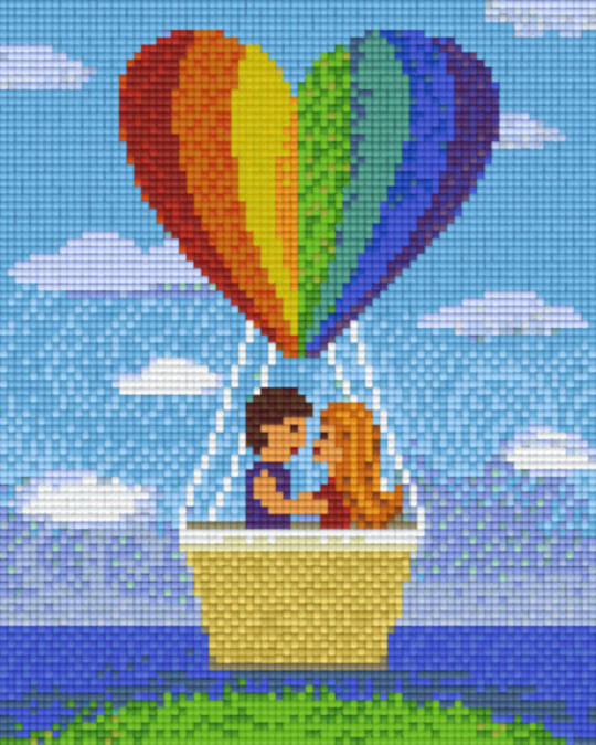 Rainbow Love Balloon Four [4] Baseplatge PixelHobby Mini-mosaic Art Kits
