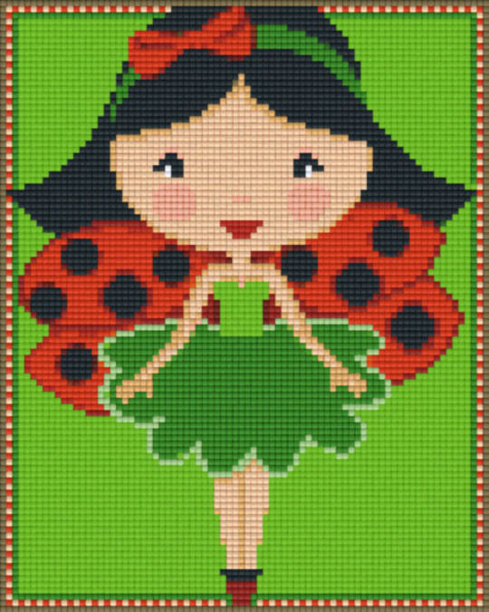 Ladybug Girl Four [4] Baseplate PixelHobby Mini-mosaic Art Kits