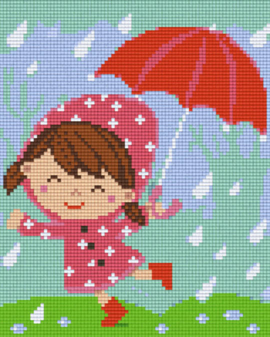Rainy Weather Four [4] Baseplate PixelHobby Mini-mosaic Art Kits
